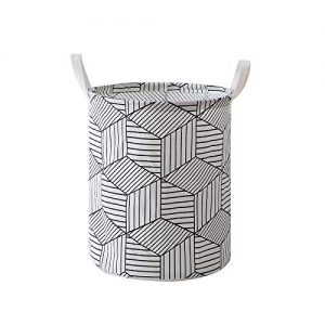 I&HE Large Laundry Basket, Diamond Pattern Laundry Hamper, Waterproof Collapsible Storage Basket
