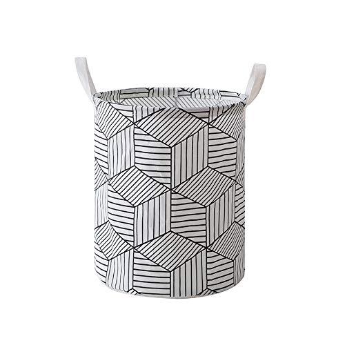 I&HE Large Laundry Basket, Diamond Pattern Laundry Hamper, Waterproof Collapsible Storage Basket
