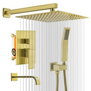 KOJOX 12 Inch Shower System Bathroom Luxury rain shower head