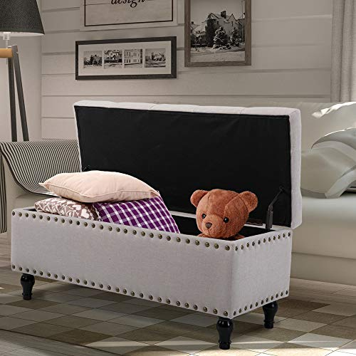"""BELARDO home Ottoman with Storage, 41.9"""" Large Storage Chest Foot Rest Guarantee: 6 monthes guarantee."""