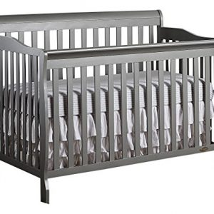 Dream On Me, Ashton 5-in-1 Convertible Crib, Storm Grey