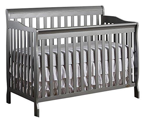 Dream On Me, Ashton 5-in-1 Convertible Crib, Storm Grey
