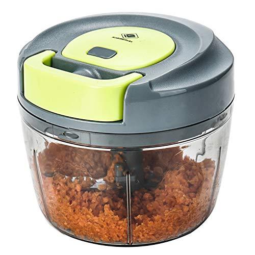 Kalokelvin Food Chopper: 3-Cup Powerful Manual Hand Held Chopper/Mincer/Mixer/Blender to Chop Fruits, Nuts, Herbs, Onions, Vegetables Blender Processor/Food Processor (750ML)