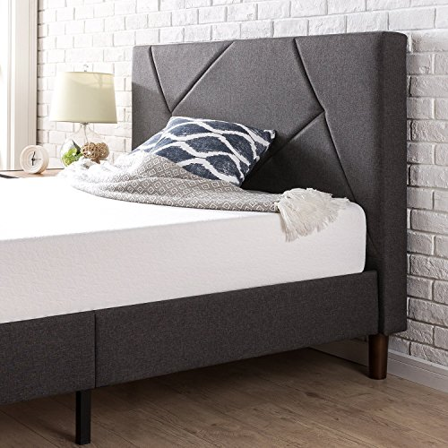 Zinus Judy Upholstered Platform Bed Frame Bundle Dimensions: 84.2 x 63.2 x 43.1 inches