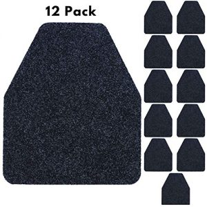"Houseables Urinal Mats, Floor Pads, 17.25"" x 20.5"", 12 Pack, Black, Blue, Polypropylene Fibers, Disposable, Splash Mat, Pee Pad, Antimicrobial, for Men's Bathroom, Urine, Restroom, Eliminating Odor"