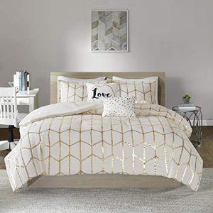 Intelligent Design Raina Comforter Set, Twin/Twin XL, Ivory/Gold