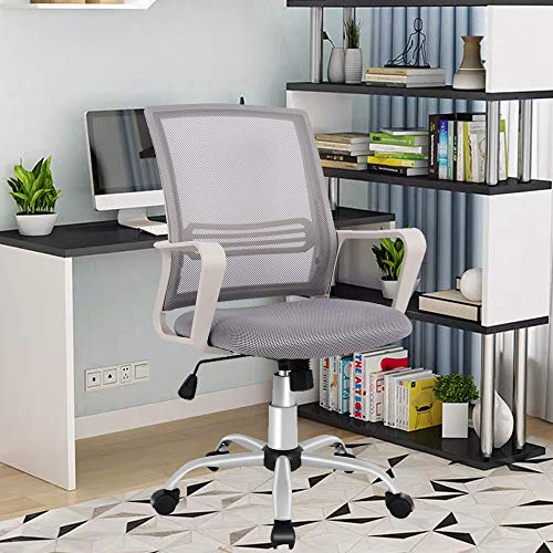 Smugdesk Office Chair, Mid-Back Breathable Mesh Office Desk Smugdesk Office Chair, Mid-Back Breathable Mesh Office Desk Computer Desk Chair with Lumbar Support.