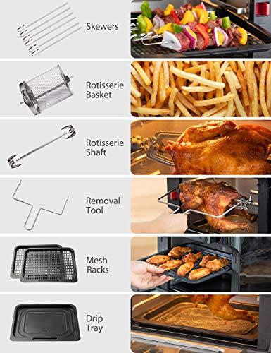 Innsky Air Fryer, 10.6-Quarts Air Oven, Rotisserie Oven Guarantee: 2 Years Guarantee