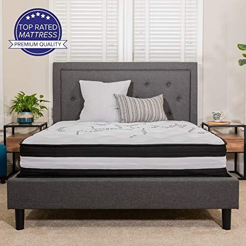 Flash Furniture Capri Comfortable Sleep 12 Inch Foam and Pocket Spring Mattress, Full Mattress in a Box