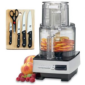 Cuisinart DFP-7BCY 7 Cup Food Processor Bundle with Home Basics 5-Piece Knife Set with Cutting Board