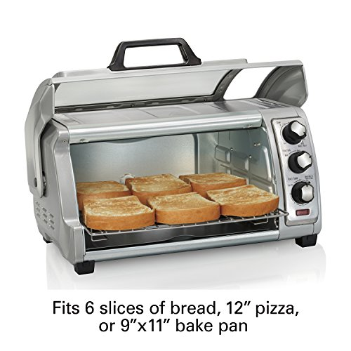 Hamilton Beach 6-Slice Countertop Toaster Oven with Easy Reach Roll-Top Door Package deal Dimensions: 15.2 x 18.7 x 9.four inches