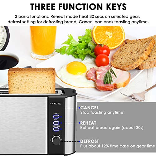 Long Slot Toaster, 2 Slice Toaster Best Rated Prime with Warming Rack Bundle Dimensions: 16.three x 6.1 x 8.zero inches
