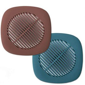 Drain Hair Catcher Shower Drain Hair Trap Bathtub Drain Cover Protector Silicone Sink Strainer for Hair Stopper Strong Adsorption Hair Collector for Shower Drain Filter for Bathroom Kitchen (2 Pack)