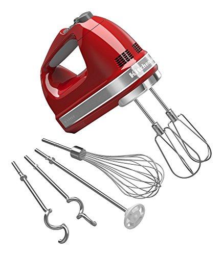KitchenAid KHM926ER Empire Red 9-Speed Hand Mixer (Renewed)