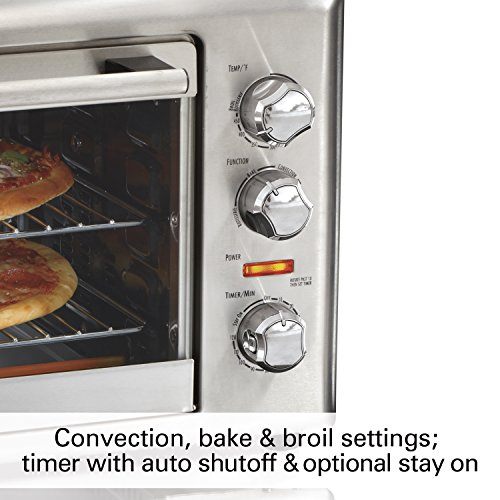 Hamilton Beach Countertop Rotisserie Convection Toaster Oven Bundle Dimensions: 17.7 x 23.2 x 14.5 inches