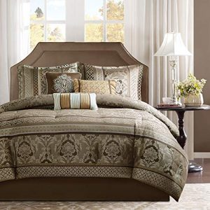 Madison Park Bellagio Comforter Set, Queen, Brown/Gold