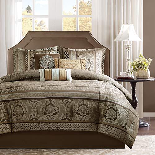 Madison Park Bellagio Comforter Set, Queen, Brown/Gold