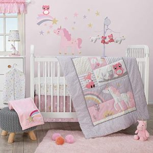 Bedtime Originals Rainbow Unicorn 3Piece Crib Bedding Set