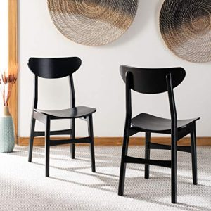 Safavieh Home Lucca Retro Black Dining Chair, Set of 2