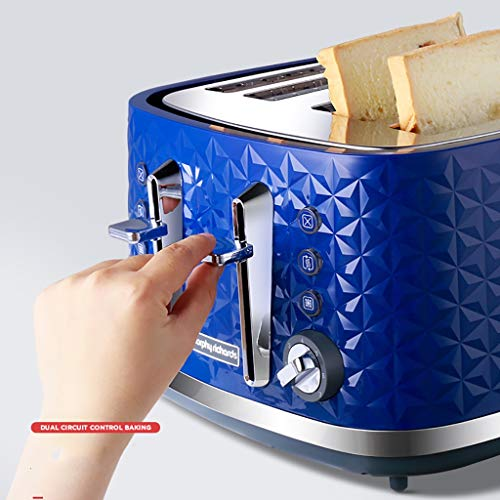 "4 Slice Toaster, 1.4"" Extra Wide Slots Toaster with Reheat 4 Slice Toaster, 1.4"" Extra Wide Slots Toaster with Reheat, Defrost, Cancel Function, 7 Bread Shade Settings, for Bread, English Muffins, Bagels,Blue."
