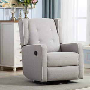 Rocker Recliner Chair, Nursery Glider Chair, Nursery Rocking Chairs