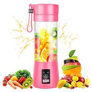 Portable Blender, Personal Mixer Fruit Rechargeable USB Mini Blender for Smoothie Fruit Juice Milk Shake, Personal Blender