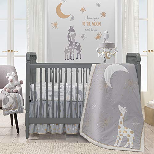 Lambs and Ivy Goodnight Giraffe Gray/White Celestial 5-Piece