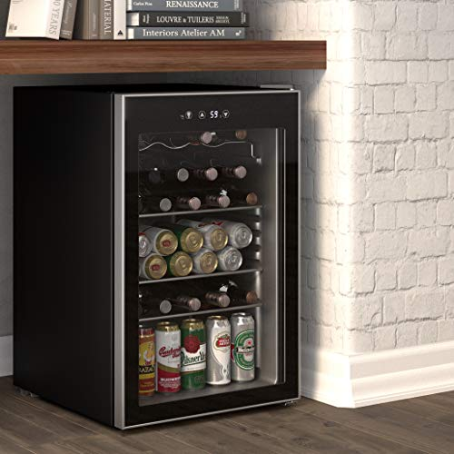 Cloud Mountain 120 Can or 36 Bottles Beverage Refrigerator or Wine Cooler with Glass Door for Beer, soda or Wine - Mini Fridge Used in the Room, Office or Bar - Drink Freezer for Party
