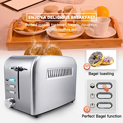 Toaster 2 Slice - Toasters Toast Evenly And Quickly With Perfect Bagel Defrost Guarantee: All 2-slice toaster have a 365-days warrenty. A reimbursement for faulty toasters