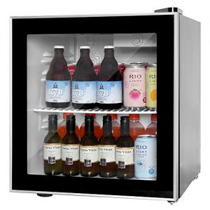 Northair Wine Cooler and Beverage Refrigerator 60 Can Mini Fridge with Glass Reversible Door for Soda Beer or Wine