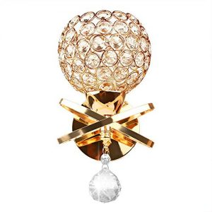 Modern Luxury Crystal Wall Lights, Wall Mounted Crystal Wall Sconces Lamp, Bedroom Wall Light Fixtures with Crystal Pendant Living Room Wall Lamp - E26 Socket