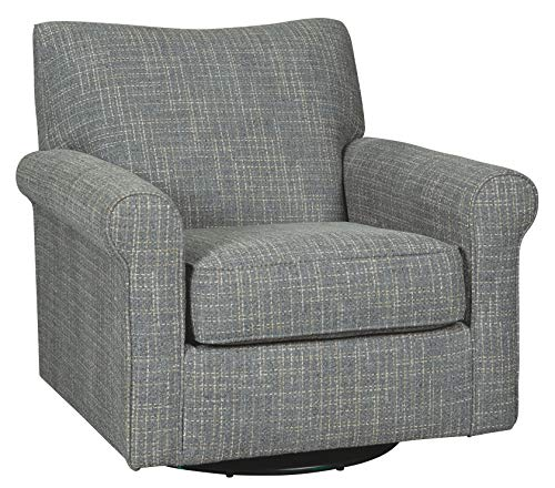 Signature Design by Ashley Renley Swivel Glider Accent Chair, Ash