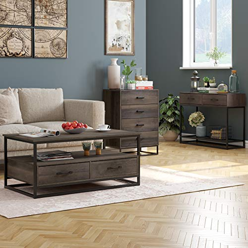 HOMECHO 4 Drawer Dresser, Wide Chest of Drawers, Wood Storage Organizer Unit Bundle Dimensions: 23.6 x 15.2 x 32.Eight inches
