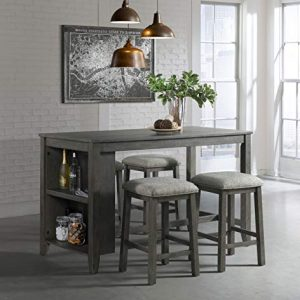 Lane Home Furnishings 5045-57 5-Pc. Space Saver Pub Dining Set, 5pc Grey