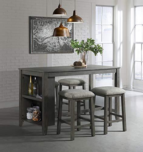 Lane Home Furnishings 5045-57 5-Pc. Space Saver Pub Dining Set, 5pc Grey