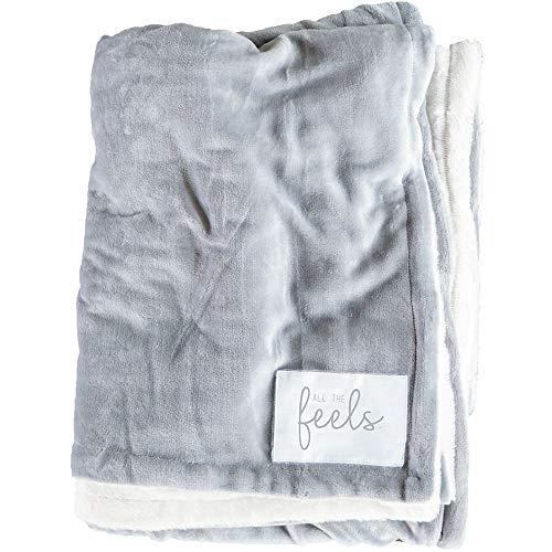 All the Feels Premium Reversible Blanket, Full/Queen, 88x92, Ash Grey Blanket, Super Soft Cozy Blanket