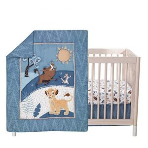 Lambs & Ivy Lion King Adventure 3Piece Baby Crib Bedding Set, Blue