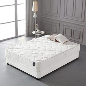Smith & Oliver Cotton-10 Inch-Comfort Firm Sleep-Cool Memory Foam & Pocket Spring Mattress-Green Foam Certified Queen Queen White
