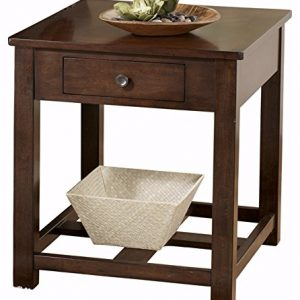 Signature Design by Ashley Marion Rectangular End Table Dark Brown
