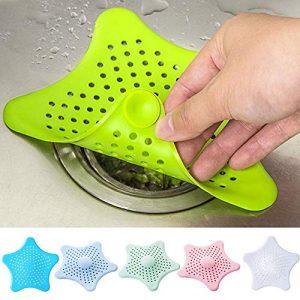LATIBELL 6 Pcs Silicone Drain Hair Catcher, Kitchen Sink Strainer - Bathroom Shower Sink Stopper - Drain Cover Hair Trap, Filter for Kitchen Bathroom Tub (Random Colors)