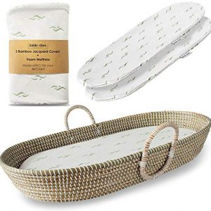 Baby Changing Basket for Nursery Changing Table Set.