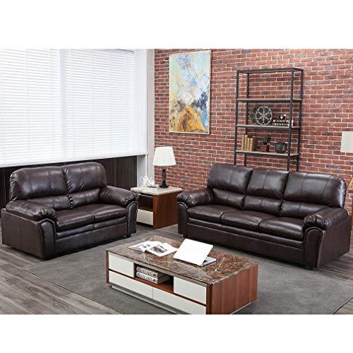 Sofa Sectional Sofa Sofa Set PU Leather Loveseat Sofa Contemporary Sofa Couch for Living Room Furniture 3 Seat Modern Futon