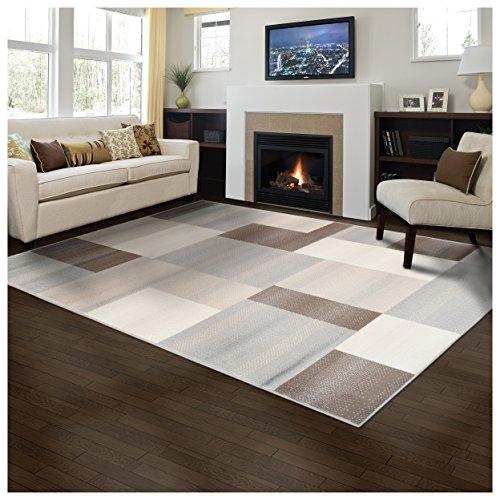 Superior Elegant Clifton Area Rug Rectangular TileModern Pattern, 8' X 10', Multi-Colored