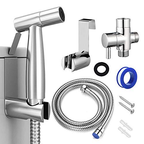 Bidet Sprayer for Toilet, Handheld Cloth Diaper Sprayer, Bathroom Jet Sprayer Kit Spray Attachment with Hose, Stainless Steel Easy Install Great Water Pressure for Bathing Pets, Feminine Hygiene