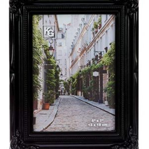 kieragrace Traditional Luxury-Frames, 5 by 7-Inch, Black