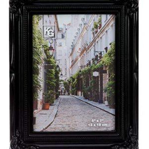 kieragrace Traditional Luxury-Frames, 5 by 7-Inch, Black