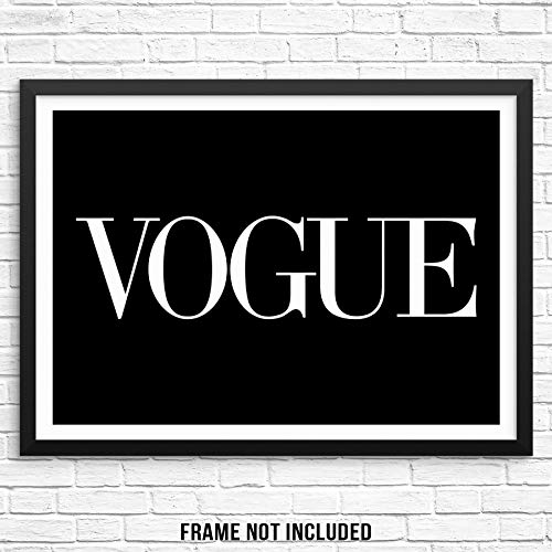 """Sincerely, Not Trendy Fashion Magazine Art Print Chic Wall Decor Poster 11""""x14"""" UNFRAMED Minimalist Typography Artwork for Bedroom Living Room Entryway or Home Office (Option 5)"""