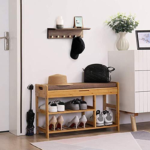 AHOME Shoe Rack Bench, Entryway 3-Tier Shoe Organizer Bundle Dimensions: 31.5 x 11.6 x 19.Three inches