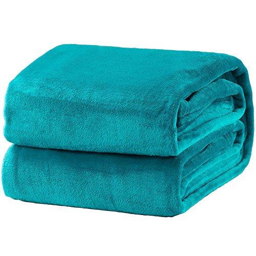 Bedsure Fleece Blanket Throw Size Teal Lightweight Super Soft Cozy Luxury Bed Blanket Microfiber