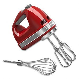 KitchenAid 7-Speed Hand Mixer | Empire Red (Renewed)